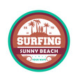 extreme waves surfing vintage isolated label vector image vector image