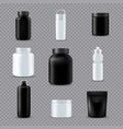 fitness sport bottles realistic transparent vector image vector image
