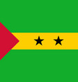 flag in colors of sao tome and principe vector image