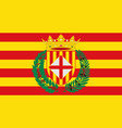 flag of barcelona is a province of spain vector image vector image