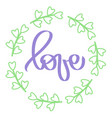 handwritten lettering word violet sign love vector image vector image