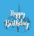 happy birthday cake with a candle vector image vector image