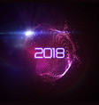 happy new 2018 year vector image vector image