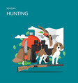 hunting season flat style design vector image