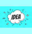 idea speech bubble banner speech bubble poster vector image