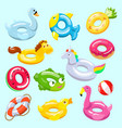 inflatable inflated swimming ring and life vector image vector image