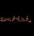 istanbul light streak skyline vector image