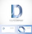 Letter D logo vector image vector image