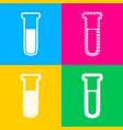 medical tube icon laboratory glass sign four vector image vector image