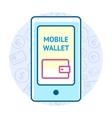 Mobile wallet concept vector image vector image
