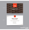 modern brown business card name card template vector image vector image