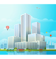 Modern cityscape Office buildings and diffe vector image vector image
