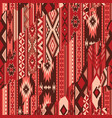 native american traditional fabric patchwork vector image vector image