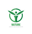 nature human character logo design healthy vector image vector image