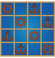 nautical pattern vector image