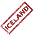 New Iceland rubber stamp vector image vector image