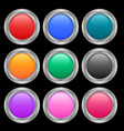 nine round shiny buttons in different colors vector image vector image