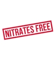 Nitrates Free rubber stamp vector image vector image
