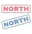 north textile stamps vector image vector image