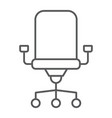 office chair thin line icon office and work vector image vector image