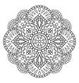 ornamental abstract mandala vector image vector image
