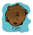 planet drawn vector image