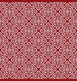 red damask pattern vector image vector image