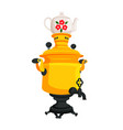 samovar with decorated kettle vector image