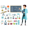 Scientific Icons Set vector image vector image