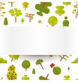 seamless pattern with green trees and vector image vector image