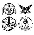 set of beer vintage labels vector image vector image