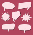 set of speech bubbles on a red background vector image vector image