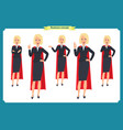 set of super businesswoman character vector image