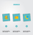 set of wd icons flat style symbols with tech vector image vector image