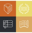 set outline education logos and icons vector image vector image