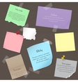 set paper banner notes stickers pieces torn vector image