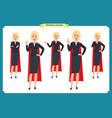 set super businesswoman character vector image vector image