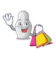 shopping unpainted nested russian dolls on cartoon vector image vector image
