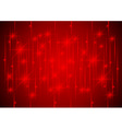 Sparkling Stars in Red Light vector image