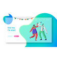 st patrick day young irish couple dance web page vector image