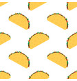 tacos seamless pattern vector image vector image
