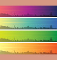tbilisi multiple color gradient skyline banner vector image vector image