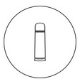 thermos or vacuum flask black icon outline in vector image vector image
