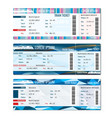 Train tickets set vector image vector image