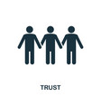 trust icon monochrome style design from business vector image