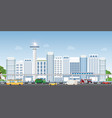 urban city landscape with contemporary buildings vector image