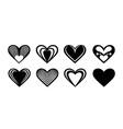 valentine design elements hearts for laser vector image