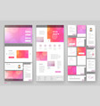 website template design with interface elements vector image vector image