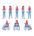 woman with injury female character with wounds vector image vector image