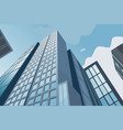 high skyscrapers on a background of the blue sky vector image